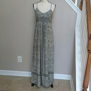 LOFT Black/Cream Maxi Dress